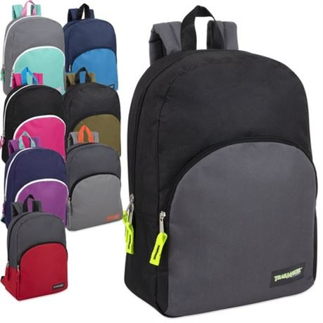 24 - 15 Inch Promo Backpacks - 8 Assorted Colors
