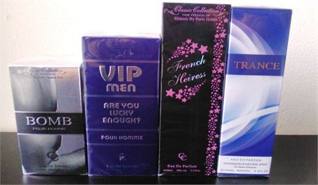 30 Men & Women Fragrances Size 100 ml (3.4 oz) Perfumes