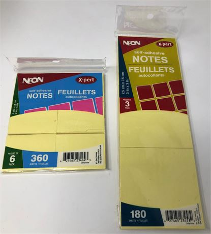 Lot of 75 Post -it Sytle Sticky notes
