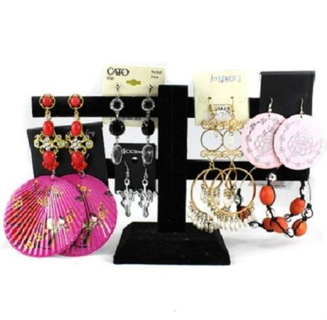 Wholesale Pairs of Large Women Dangling Earrings Mixed Lot Jewelries