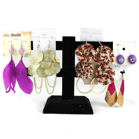 Wholesale Pairs of Large Women Dangling 488 Earrings Mixed Lot Jewelries