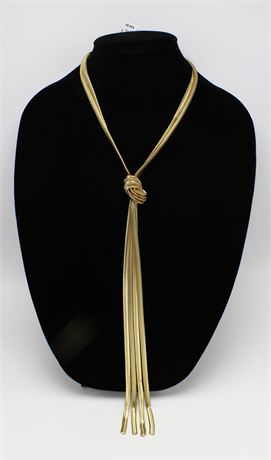 One Dozen New Gold Tone Knot Pendant Chain Necklaces by I-N-C  #N2457-12