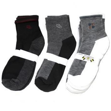 Wholesale Mixed Lot 200 Pairs Assorted Styles Men Ankle Crew Socks