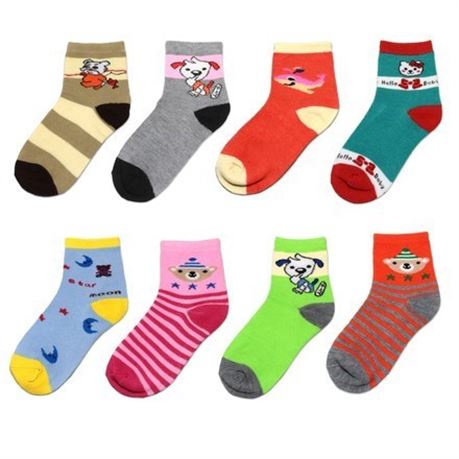 (180) Assorted Mixed Styles Children Ankle Socks Low Cut