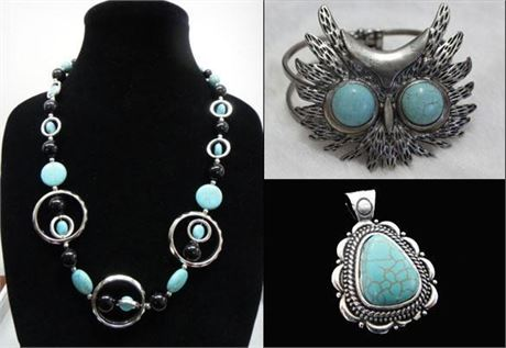 216 unit of Natural Turquoise Stone Jewelry