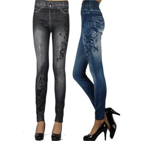 60 Pairs of High Quality Long Women's Jeans Legging