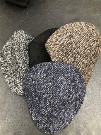 Lot of 36 Men's Tweed Winter Caps highly fashionable