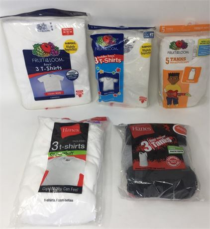18 packs of an assortment of boys packaged underwear 1st quality branded. NEW!