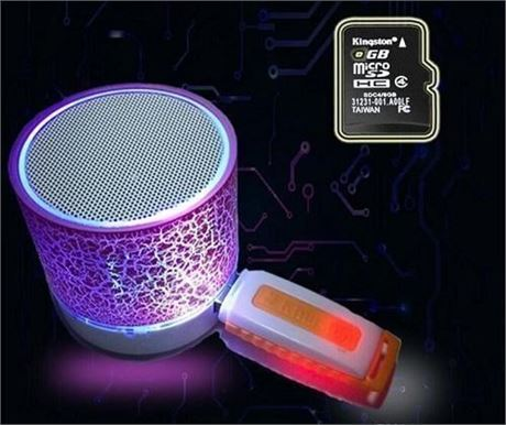 16 Brand New Bluetooth Wireless Speakers With LED Light Changing Color