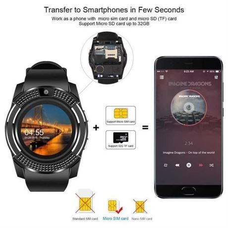 30 New Luxury Smart Watches for iOS & Android with SIM Card Slots