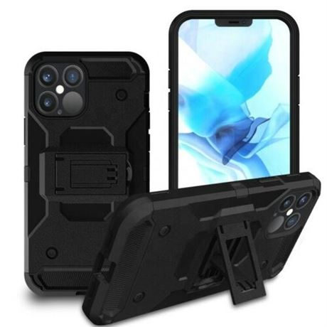 Apple iPhone 12 Pro Heavy Duty military Kickstand Shockproof Case Outdoor-50pcs