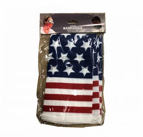 3-Pack Patriotic Cotton Bandanas – Only $1.50/Pack – $8.99 Retail Value